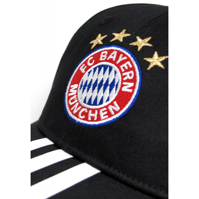 adidas fc bayern 3s cap schwarz fussball fan artikel. Black Bedroom Furniture Sets. Home Design Ideas