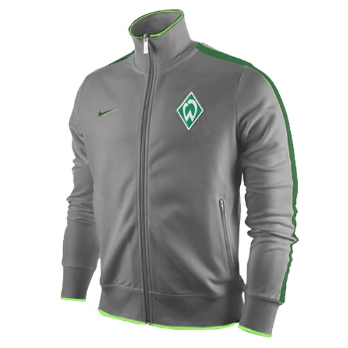 nike werder bremen authentic n98 track jacket grau. Black Bedroom Furniture Sets. Home Design Ideas