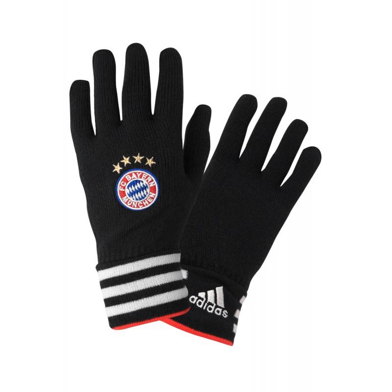 adidas fc bayern gloves schwarz fussball fan artikel bei w39473. Black Bedroom Furniture Sets. Home Design Ideas