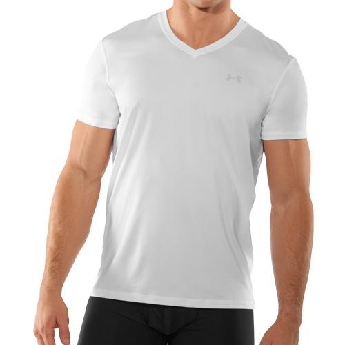 Under armour original v neck t shirt weiss fitness for Original under armour shirt