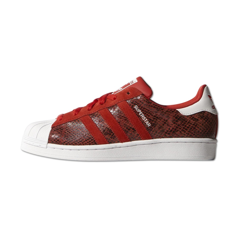 Adidas Superstar Wildleder Rot