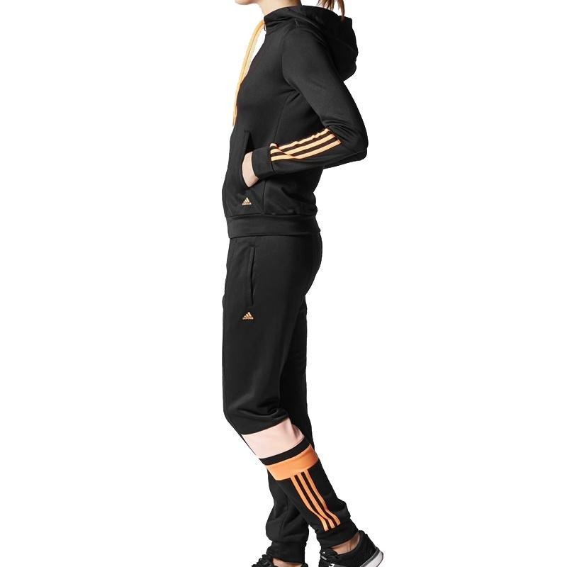 adidas iconic tracksuit women damen french terry trainingsanzug schwarz ebay. Black Bedroom Furniture Sets. Home Design Ideas