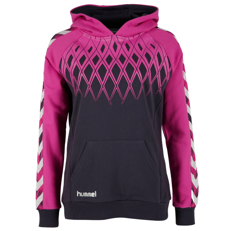 hummel fire knight sa hoodie women pink freizeit. Black Bedroom Furniture Sets. Home Design Ideas