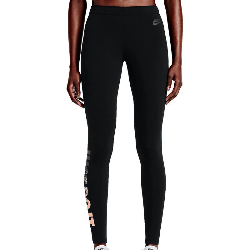 nike leg a see just do it metal leggings women schwarz freizeit hosen bei. Black Bedroom Furniture Sets. Home Design Ideas