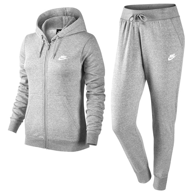 nike sportswear track suit fleece women grau freizeit trainingsanzuege bei. Black Bedroom Furniture Sets. Home Design Ideas