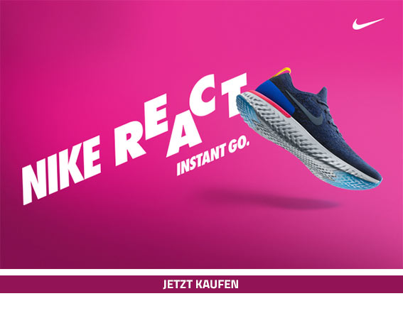 Nike Epic React - jetzt vormerken!
