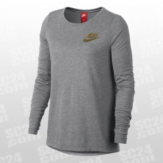 Essential Metallic LS Top Women