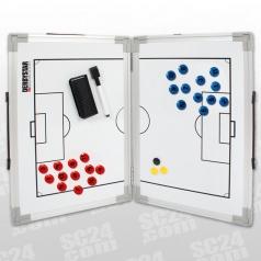 Faltbare Taktiktafel Aluminium Fußball