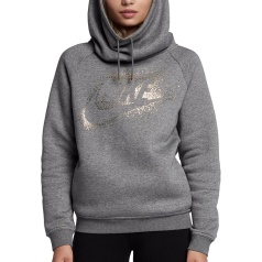 Rally Metallic Funnel Neck Hoody Women