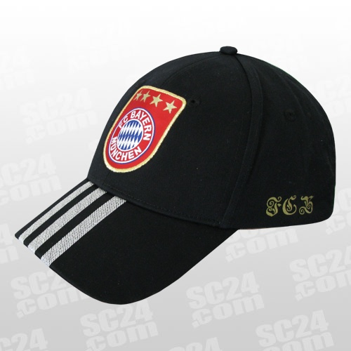 adidas fc bayern cap schwarz fussball fan artikel bei. Black Bedroom Furniture Sets. Home Design Ideas