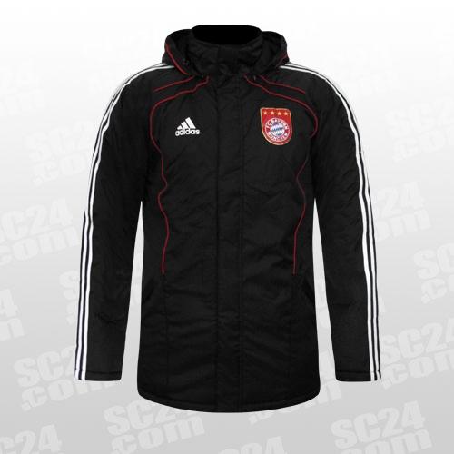 adidas fc bayern stadion jacket schwarz fussball fan artikel bei p96025. Black Bedroom Furniture Sets. Home Design Ideas