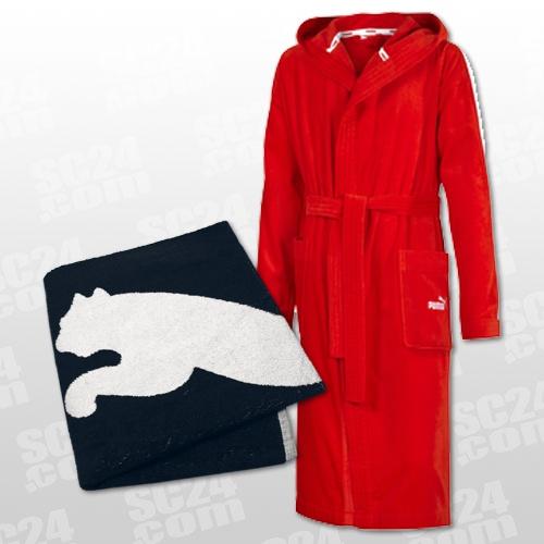puma set bathrobe foundation towel rot freizeit bademaentel bei 815052 01. Black Bedroom Furniture Sets. Home Design Ideas