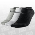 3PPK Dri-Fit Cotton No Show Socks