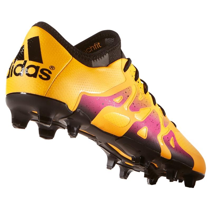 adidas X 15.1 SG Synthetik Schraubstollen Fußballschuhe pinkgrün