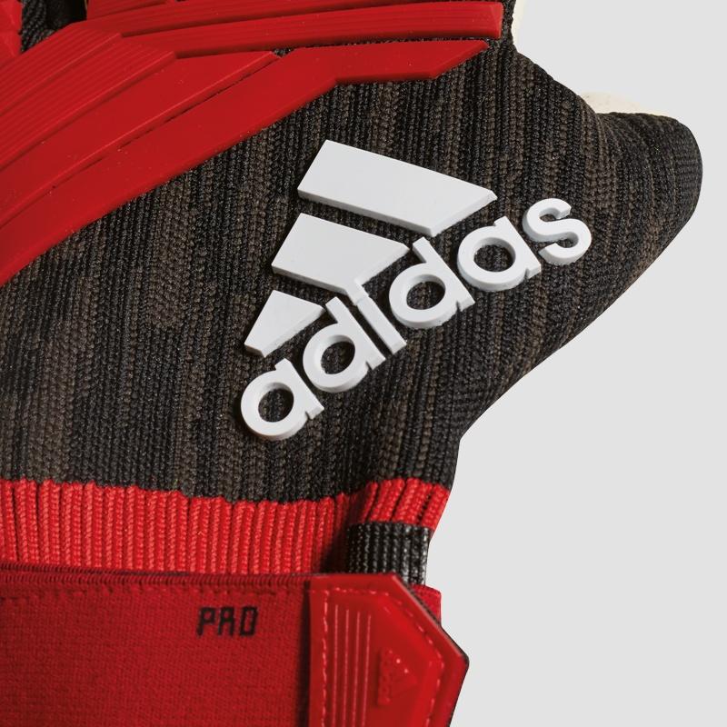 adidas Predator Junior Torwarthandschuhe gelb rot schwarz