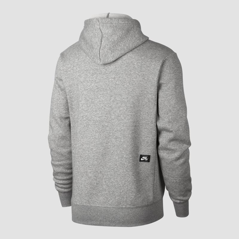 e47d6965b5fd Nike SB Icon Hoodie(grau) - Freizeit Sweatshirts bei www.sc24.com ...