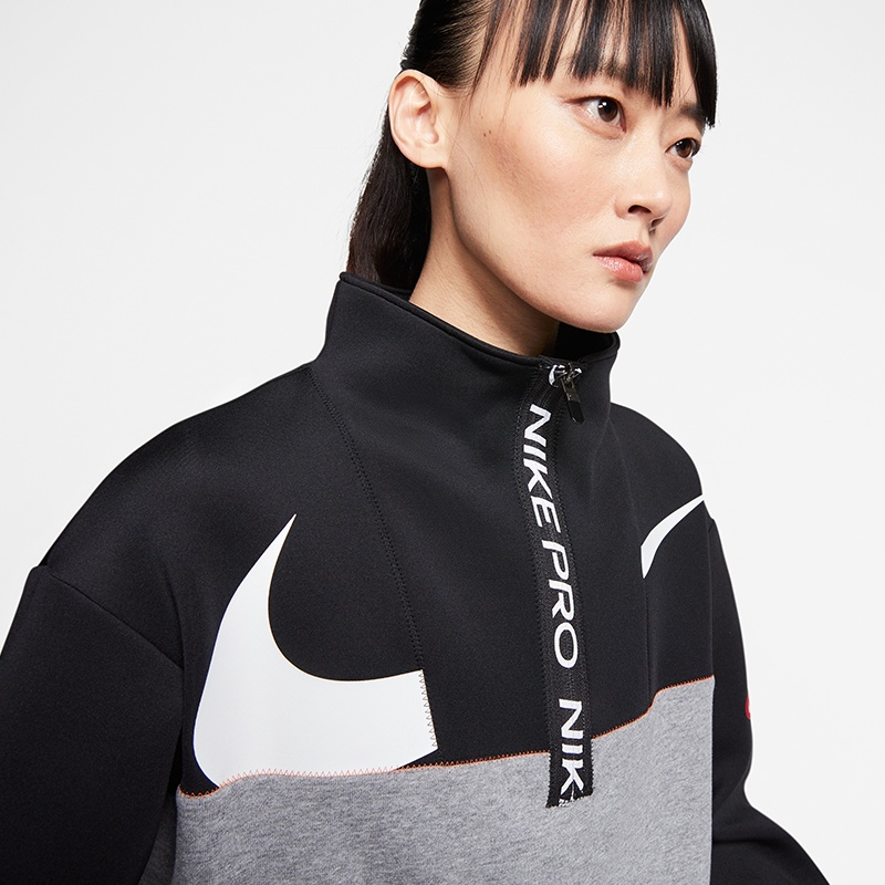 Nike Pro Dry Get Fit Fleece HZ Top Women Fitness Sweatshirts bei