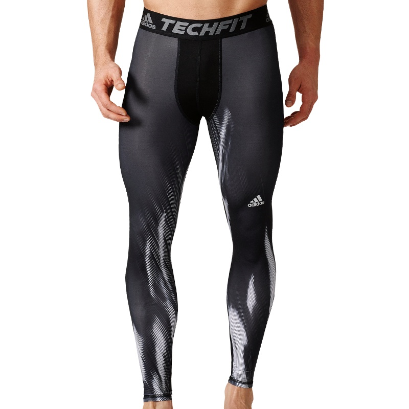 adidas Techfit Base Graphic Long Tight Fitness Sportunterwaesche bei