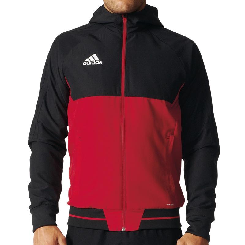 adidas jacke schwarz rot fußball