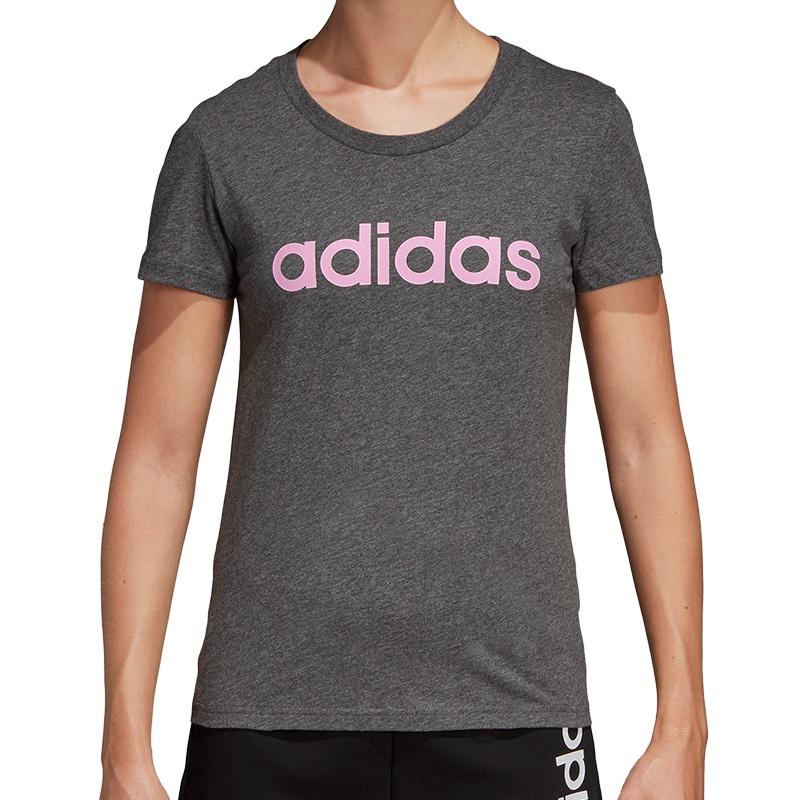 adidas Essentials Linear Slim Tee Women Freizeit Shirts bei