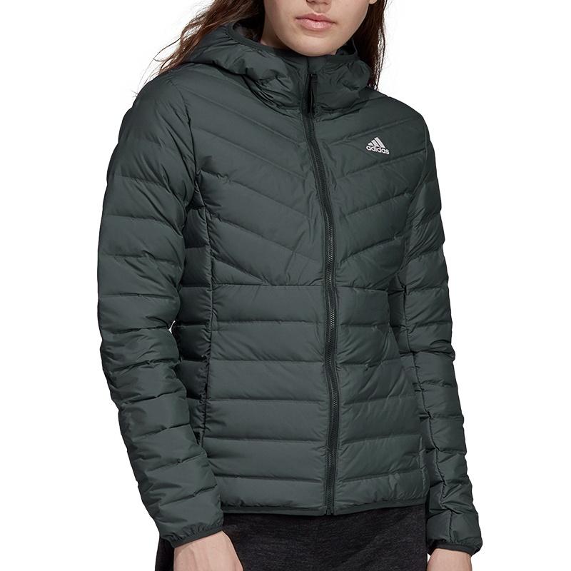adidas | Varilite 3 Stripes Hooded Down Jacket Women | Soccer Fans