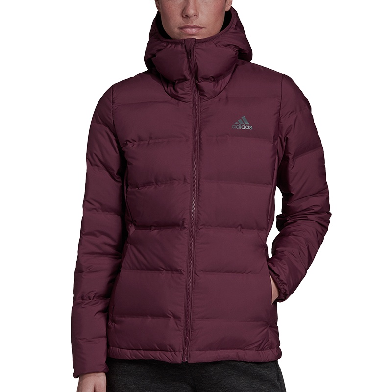 adidas Helionic Down Hooded Jacket Women Freizeit Jacken bei