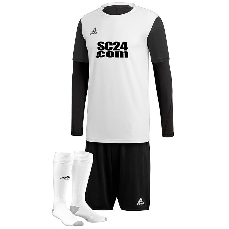 adidas Trikotsatz Estro 19 mit Alphaskin Longsleeve + Logo Fussball Trikotsaetze bei