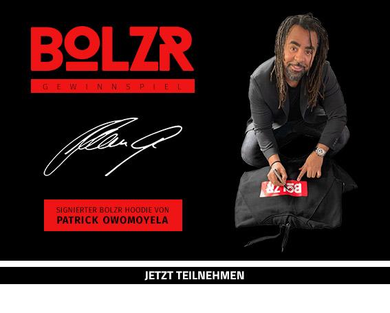 Gewinnspiel - BOLZR Hoodie, signiert von Patrick Owomoyela