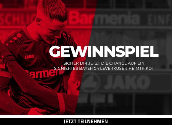 Gewinnspiel - Signiertes Jako Bayer 04 Leverkusen Heimtrikot 2020/21