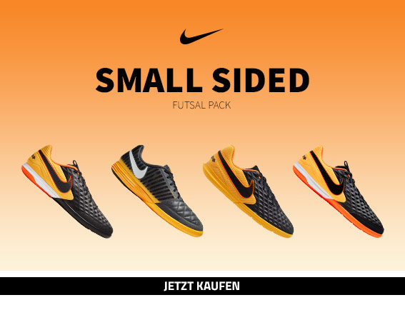 Nike Small Sided Futsal Pack in Schwarz/Orange