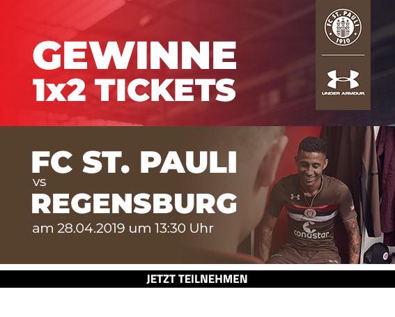 Gewinne 1x2 Tickets für das Ligaspiel FC St. Pauli vs Regensburg