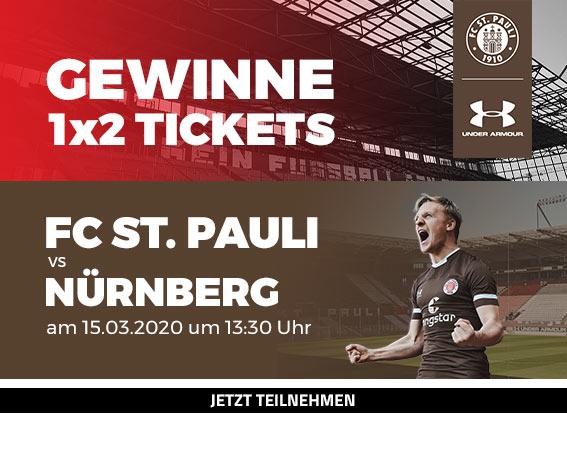 FC St. Pauli vs Nürnberg Ticket Gewinnspiel