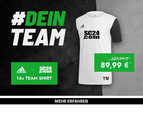 Aktion adidas Estro Team Shirt (weiss-schwarz)