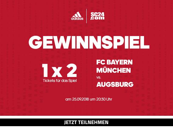 Gewinne 1x2 Tickets für das Spiel FC Bayern München vs. Augsburg