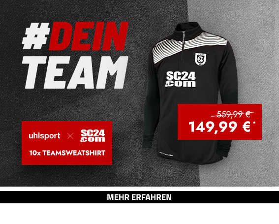 SC24.com x uhlsport Club Zip Teamsweatshirt