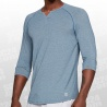 Athlete Recovery Sleepwear 3/4 Sleeve Henley Shirt