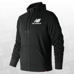 Essentials Stacked Logo Full Zip Hoodie