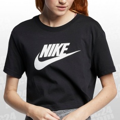 Essential Icon Top Crop SS Women