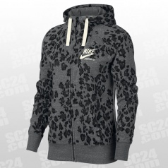Animal Print Leopard Gym Vintage FZ Hoodie Women