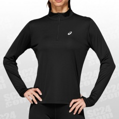 Silver 1/2 Zip LS Top Women