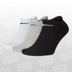 Everyday Cotton Cushioned No-Show Socks 3PPK