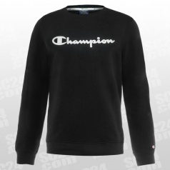 Crew Neck Logo Fleece Sweatshirt