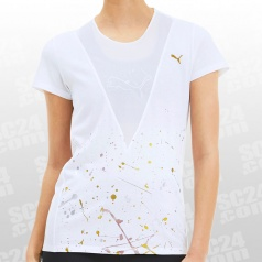 Metal Splash Deep V Training Tee Women