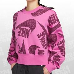 Sportswear Icon Clash AOP Fleece Crew Women