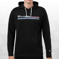 Logo Stripe Hooded Sweatshirt
