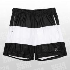 White Stripe Mesh Shorts