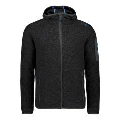 Knit-Tech Meliert Fleece Hooded Jacket