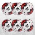 adidas Team Match Ball 6er Ballpaket weiss/rot Größe 5