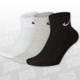 Cushion Quarter Training Socks 3PPK