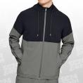 Under Armour Athlete Recovery Woven Warm Up Jacket grau/schwarz Größe LG